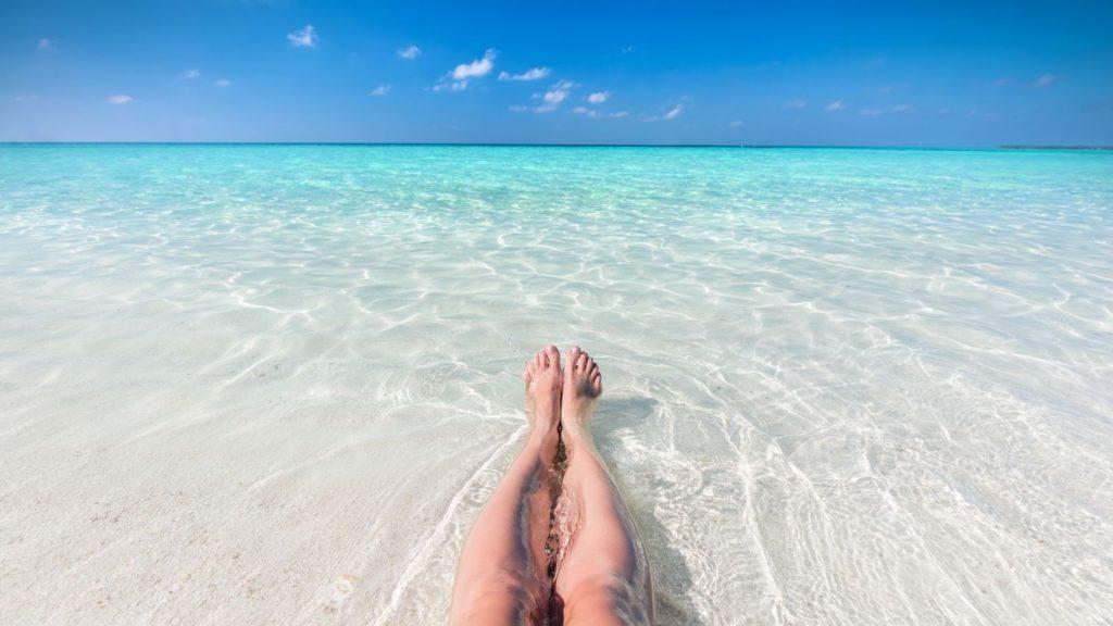 Pharmacist Vacation On Beach