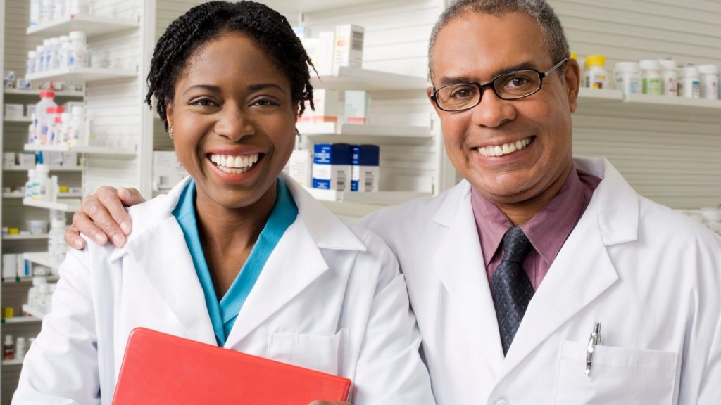 pharmacist and doctor